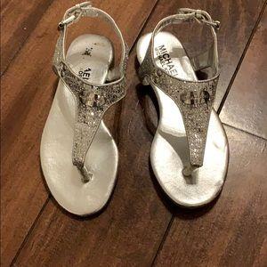Michael Kors toddler silver sandals